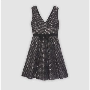 Sandro sequin fit and flare dress.